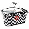 Black Chevron Monogram Insulated Picnic Cooler