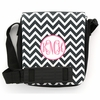 Black Chevron Monogram Sling Bag