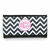 Black Chevron Monogram Wallet