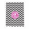 Black Chevron Personalized iPad Case