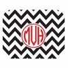 Black Chevron Personalized Mouse Pad