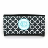Black Circles Monogram Wallet