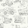 Black Construction Blue Print Wallpaper