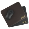Black Cowhide Personalized Mouse Pad