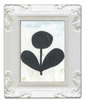 Black Flower Decorative Framed Art Print