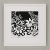 Black Flower Power Framed Art