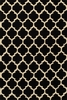 Black Geo Lattice Rug
