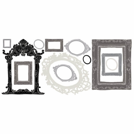 Black & Gray Frames Wall Decal