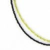 Black & Green Seed Bead Necklace