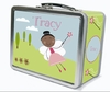 Black Hair Fairy Personalized Lunch Box