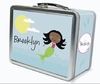 Black Hair Mermaid Personalized Lunch Box
