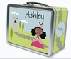 Black Hair Princess Personalized Lunch Box