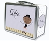 Black Hair Tap Dancer Personalized Lunch Box