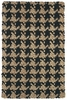 Black Houndstooth Rug