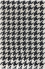 Black Houndstooth Wool Rug
