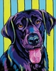 Black Lab Dog Wall Art