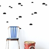 Black Mini Clouds Wall Stickers