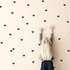 Black Mini Hearts Wall Stickers