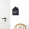 Black Mini House Wall Sticker