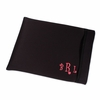 Black Monogram Neoprene Laptop Sleeve