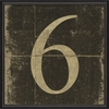 Black Number 6 Framed Wall Art