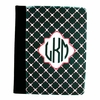 Black Quilted Personalized iPad Folio Case
