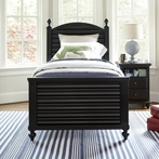 Black Reading Bed