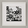 Black Reverse Flower Power Framed Art