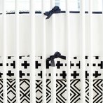 Black Swiss Cross Crib Bumper
