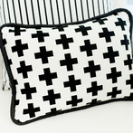 Black Swiss Cross Throw Pillow