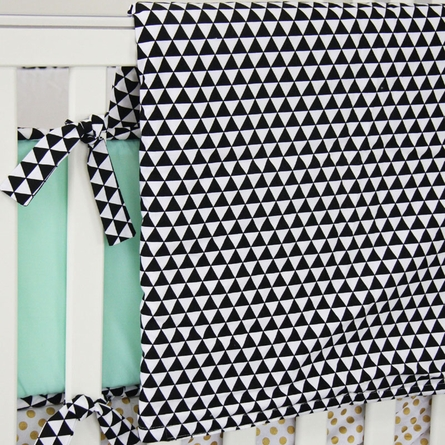 Black Triangles Crib Blanket