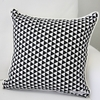Black Triangles Square Throw Pillow