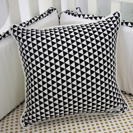 Black Triangles Square Pillow Cover