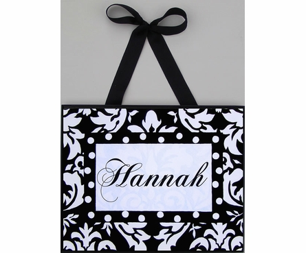 Black & White Damask Wall Art