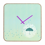 Blame It On The Rain Square Wall Clock