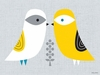 Blandford Birdies - Winter Canvas Wall Art