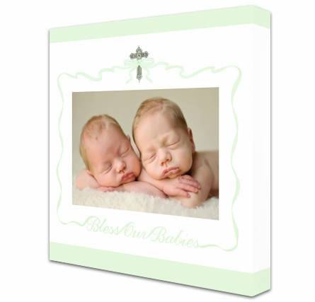 Bless Our Babies Custom Photo Canvas Reproduction