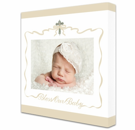 Bless Our Baby Custom Photo Canvas Reproduction