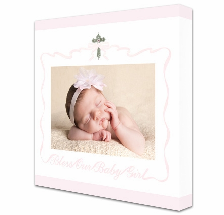 Bless Our Baby Girl Custom Photo Canvas Reproduction