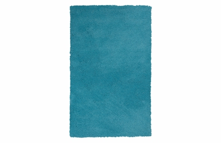 Bliss Shag Rug in Highlighter Blue