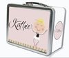 Blonde Hair Ballerina Personalized Lunch Box