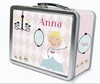 Blonde Hair Glam Princess Personalized Lunch Box