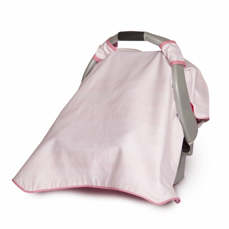 Bloom Car Seat Canopy in Petal Pink