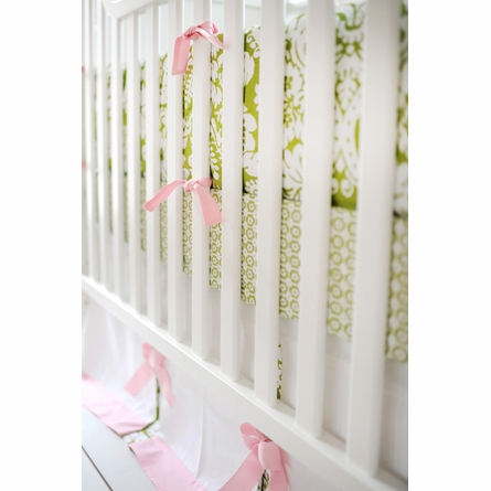 Bloom in Apple Crib Skirt