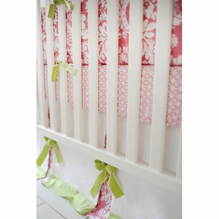 Bloom in Pink Crib Skirt