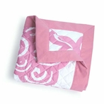 Bloom Quilted Blanket in Petal Pink