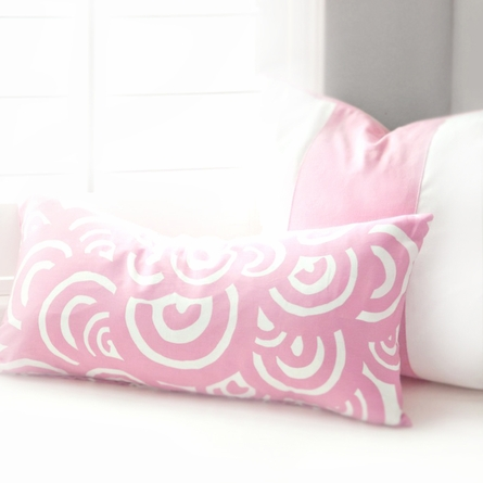 Bloom Throw Pillow Cover in Petal Pink