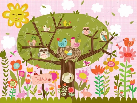 Bloomin Birdies Canvas Wall Art