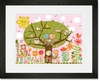 Bloomin' Birdies Framed Art Print