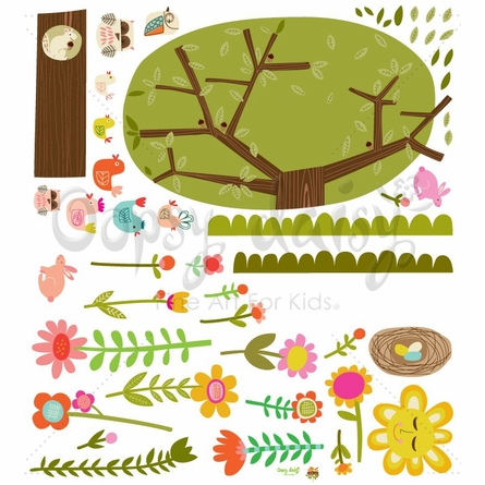 Bloomin Birdies Large Peel & Place Wall Stickers